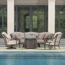 Mallin Ellington Cushion Outdoor Furniture Set with Fire Table - ML-ELLINGTON-SET2