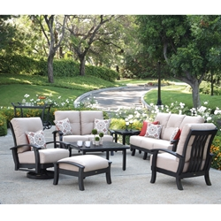 Mallin Georgetown Cushion Patio Furniture Set - ML-GEORGETOWN-SET1