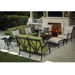 Mallin Lynwood Aluminum Cushion Patio Set - ML-LYNWOOD-SET1