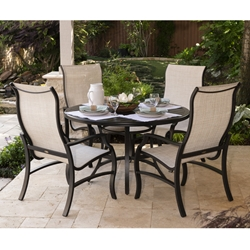 Mallin Palisades Aluminum Sling Patio Dining Set for 4 - ML-PALISADES-SET4