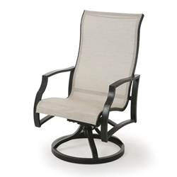 Mallin Palisades Sling Swivel Rocker Dining Arm Chair - PE-163