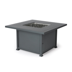 Mallin Square Chat Height Fire Table - N Slat Top - LF152-N142F