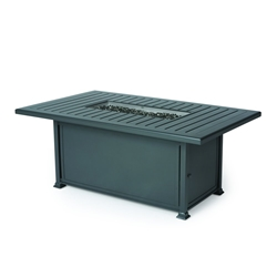 "Mallin Paso Robas 57"" x 36"" Rectangular Chat Height Fire Table - F Slat Table - LF262-F260FS"
