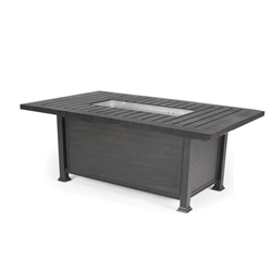 Mallin Rectangular Chat Height Fire Table - N Slat Top - LF262-N260F