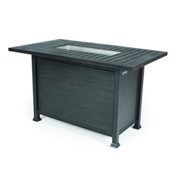 Mallin Rectangular Counter Height Fire Table - N Slat Top - LF265-N260F
