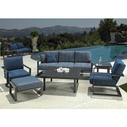 Mallin Quincy Modern Outdoor Patio Set - ML-QUINCY-SET1