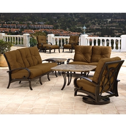 Mallin Salisbury Cast Aluminum Outdoor Patio Set - ML-SALISBURY-SET1