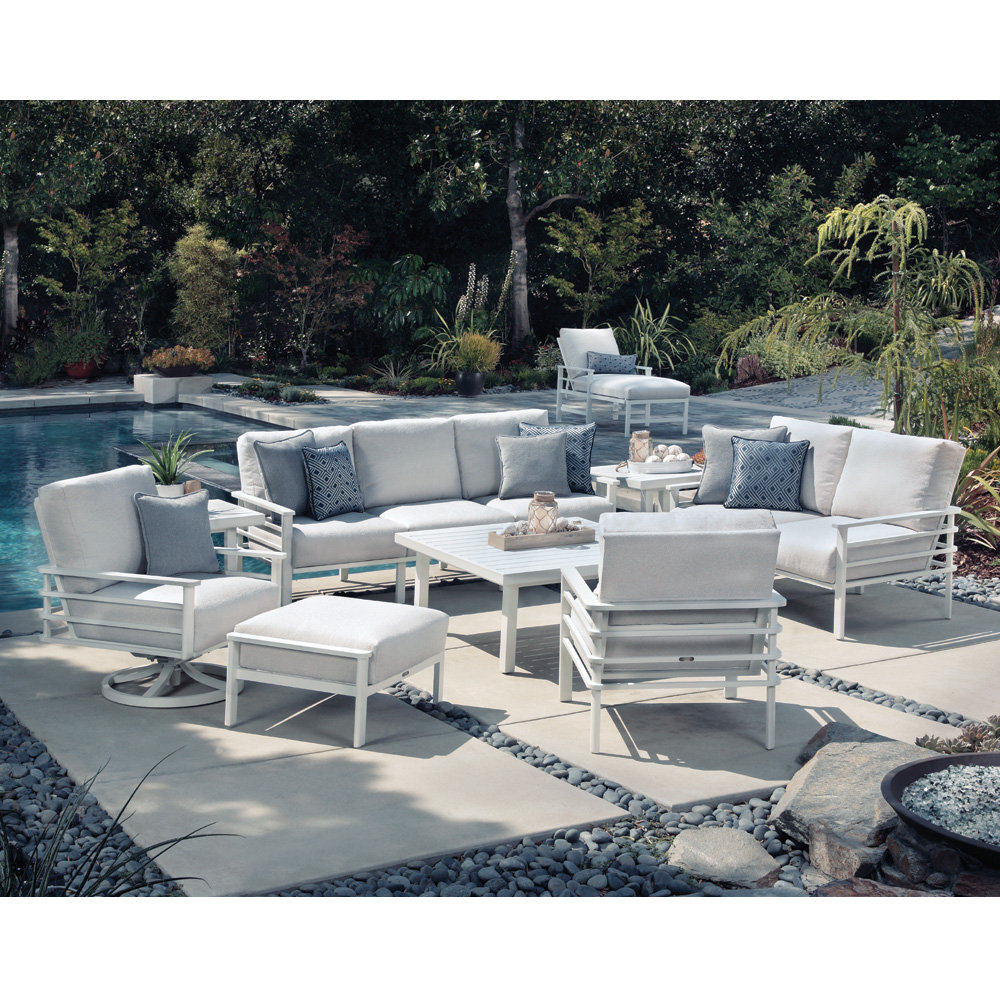 Mallin Sarasota Modern Outdoor Furniture Set with Cushions