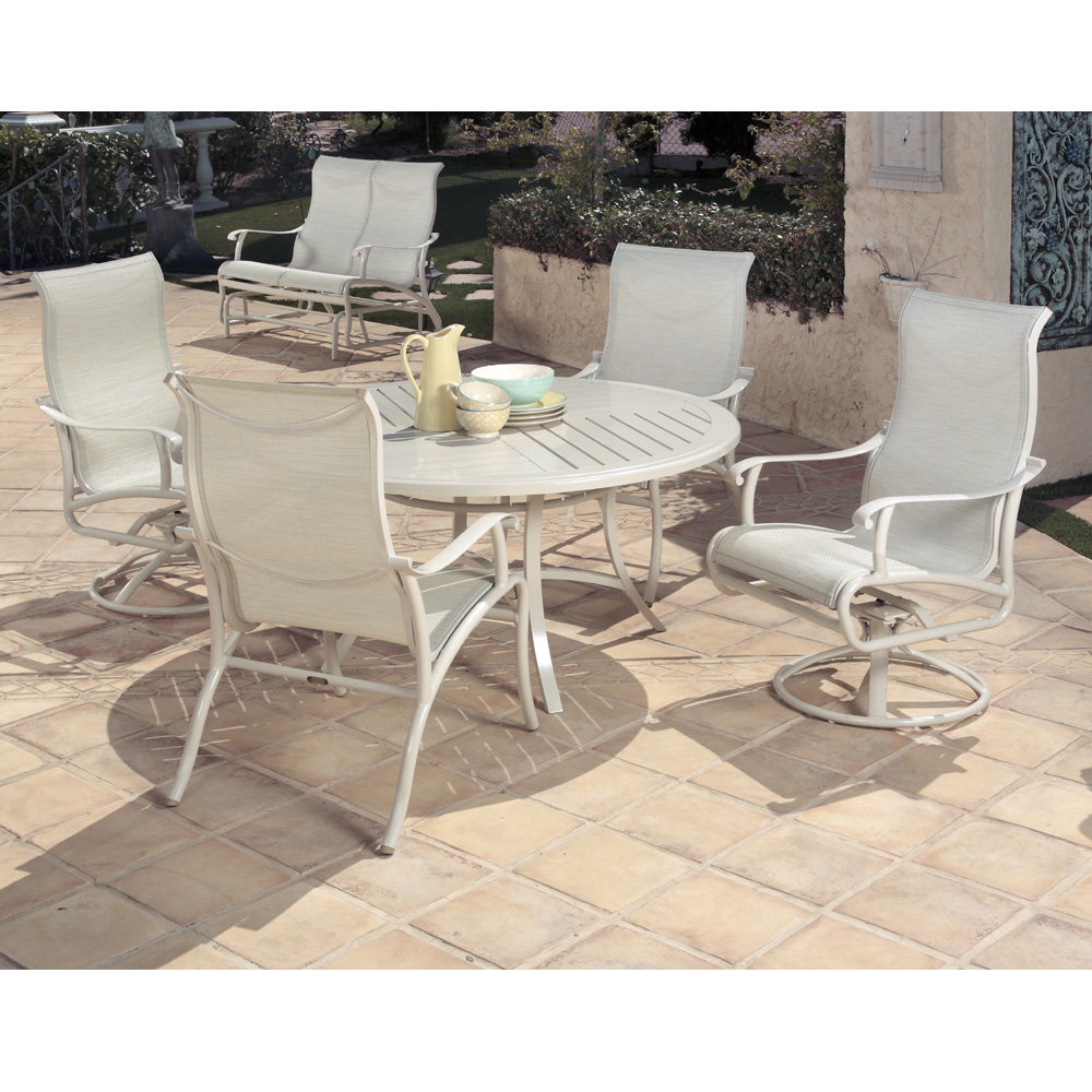 Mallin Scarsdale Sling Traditional Outdoor Dining Set for 4