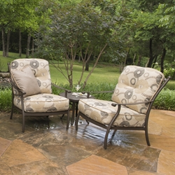 Mallin Seville Aluminum Cushion Outdoor Lounge Chair Set with Table - ML-SEVILLE-SET3