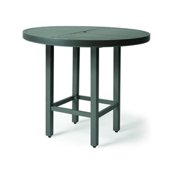 "Mallin Trinidad Slat 42"" Counter Height Umbrella Table - 3-D042U"