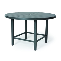 "Mallin Trinidad Slat 60"" Counter Height Umbrella Table - 3-D060U"