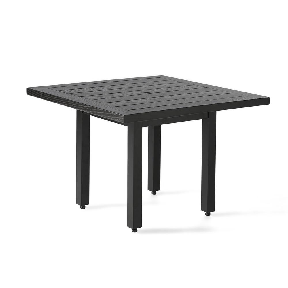 Mallin Trinidad 36 Square Umbrella Dining Table With Wood Grain Top B3736 W136u