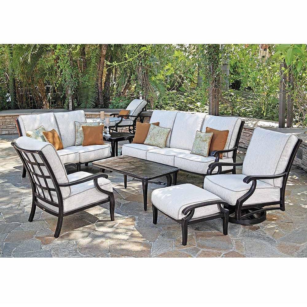 Sensational Mallin Turin Cushion Traditional Cast Aluminum Outdoor Home Interior And Landscaping Ponolsignezvosmurscom