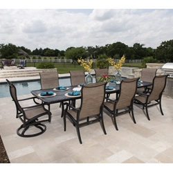 Mallin Turin Traditional Outdoor Dining Set for 8 - ML-TURIN-SET4