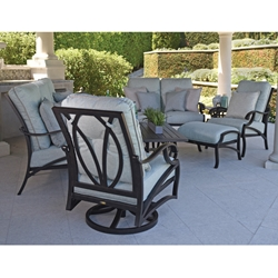 Mallin Volare Traditional Cast Aluminum Outdoor Furniture Set - ML-VOLARE-SET1