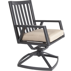 OW Lee Aris Swivel Rocker Dining Arm Chair - 2733-SR