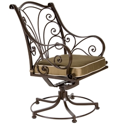 OW Lee Ashbury Swivel Rocker Dining Arm Chair - 1584-SR