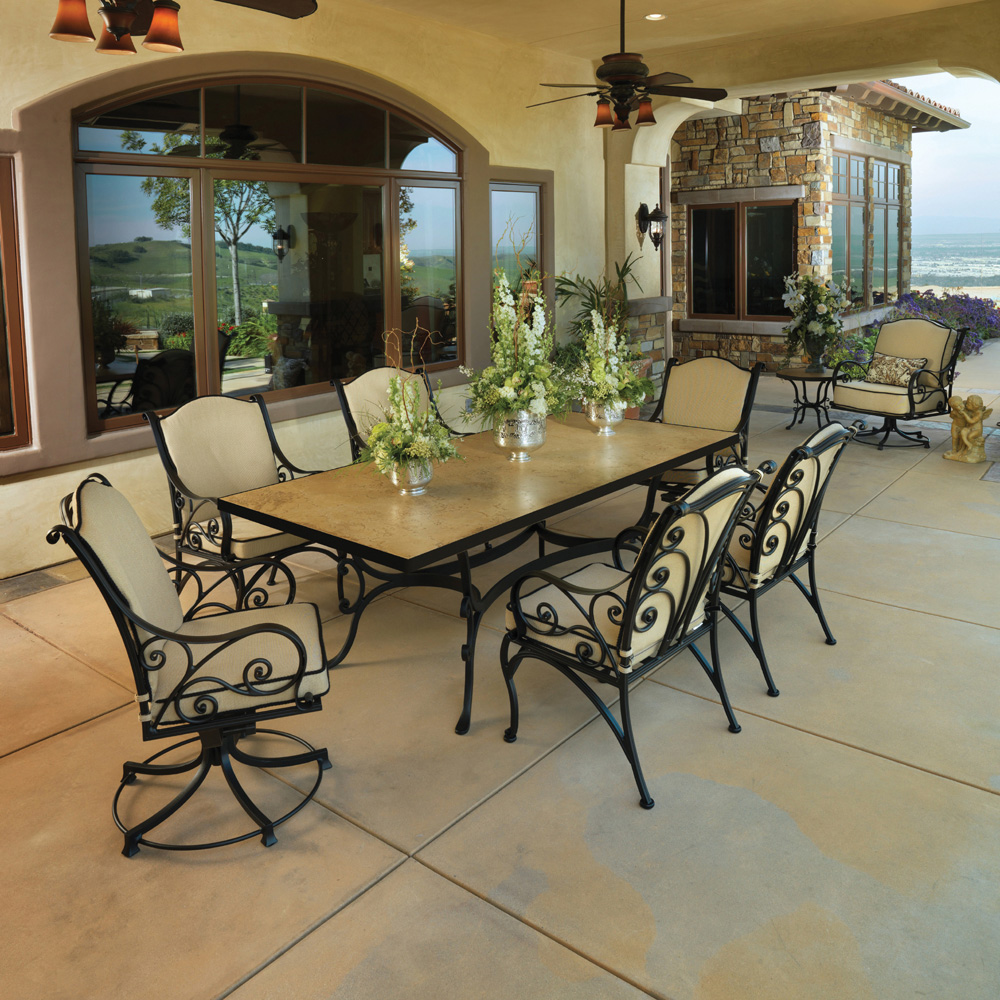 OW Lee Ashbury 7 Piece Patio Dining Set - 1584A-SR-15DT07-P4284RT