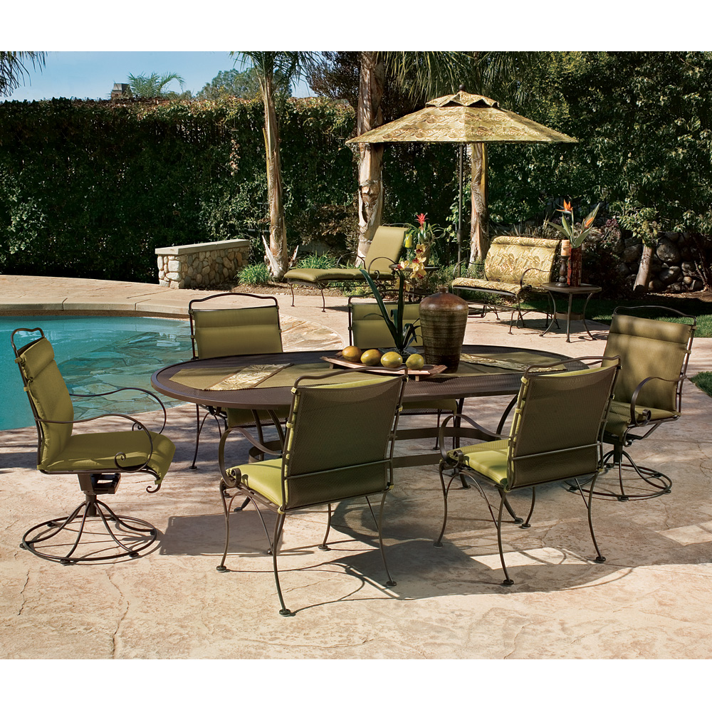 OW Lee Avalon Traditional Wrought Iron Patio Dining Set