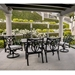 OW Lee Belle Vie Traditional Aluminum Outdoor Dining Set for 6 - OW-BELLEVIE-SET1