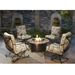 "42"" Round Santorini Occasional Fire Pit Table - 5110-42RDO"