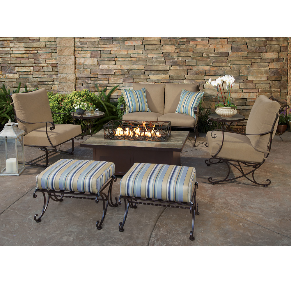 OW Lee Bellini Love Seat Fire Pit Set - OW-BELLINI-SET3