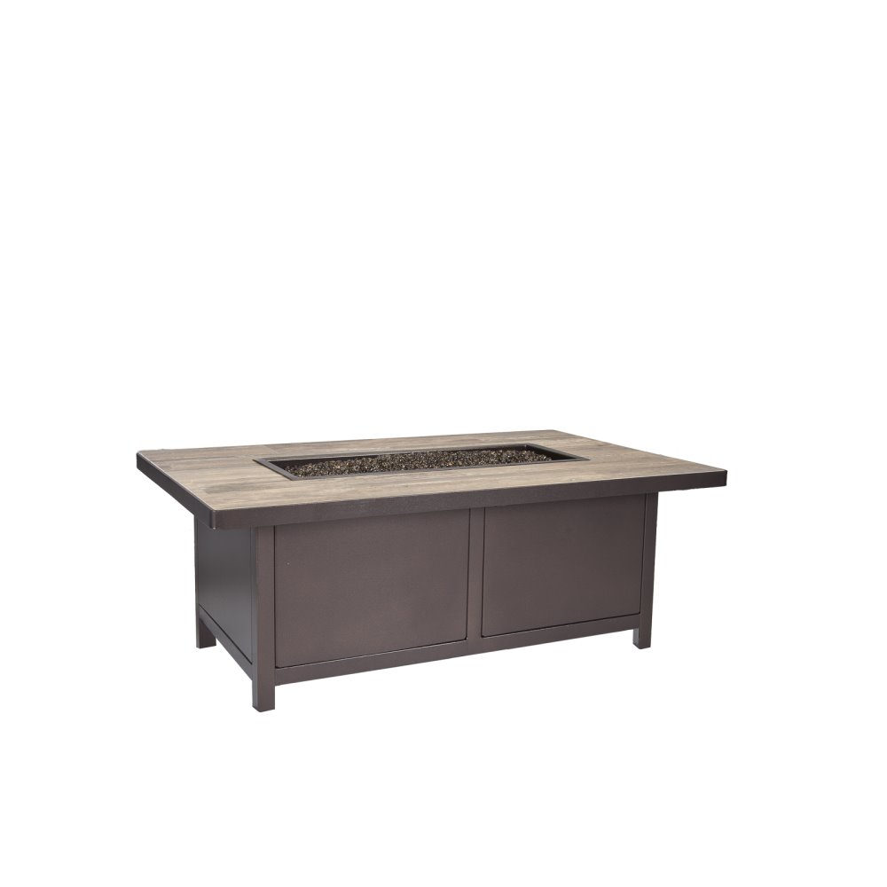 "OW Lee Capri 30"" x 50"" Occasional Height Fire Pit Table - 5112-3050O"