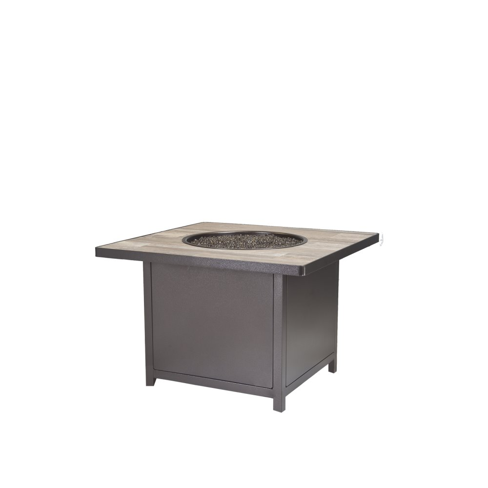 "OW Lee Capri 36"" Sq. Chat Height Fire Table - 5112--36SQC"