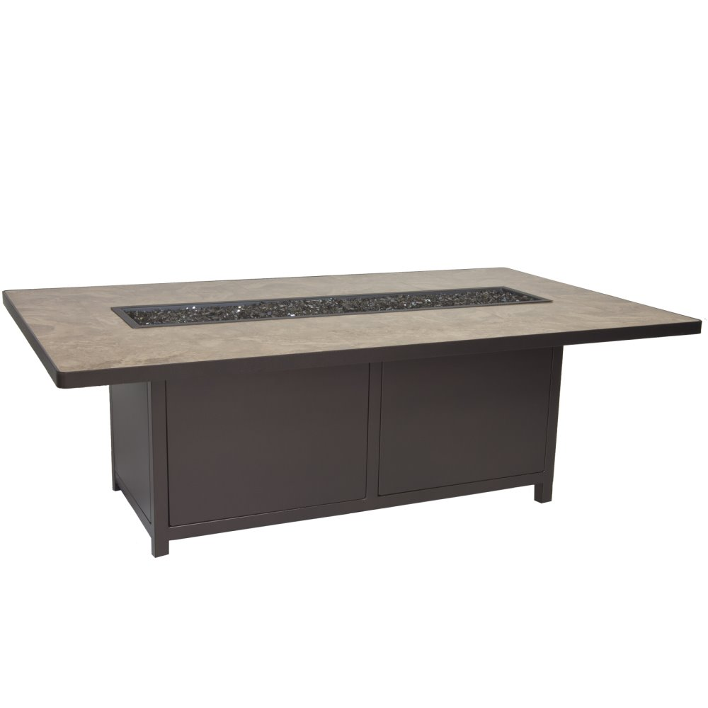 OW Lee Capri 42 x 72 Chat Height Fire Table - 5112-4272C