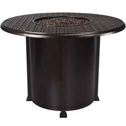 "OW Lee Richmond 54"" Round Counter Height Fire Pit Table - 5134-54RDK"