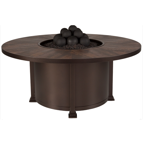 "OW Lee Santorini 54"" Round Chat Height Fire Pit - 5110-54RDC"