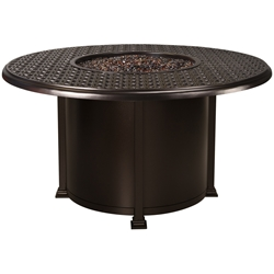 "OW Lee Richmond 54"" Round Dining Height Fire Pit Table - 5134-54RDD"
