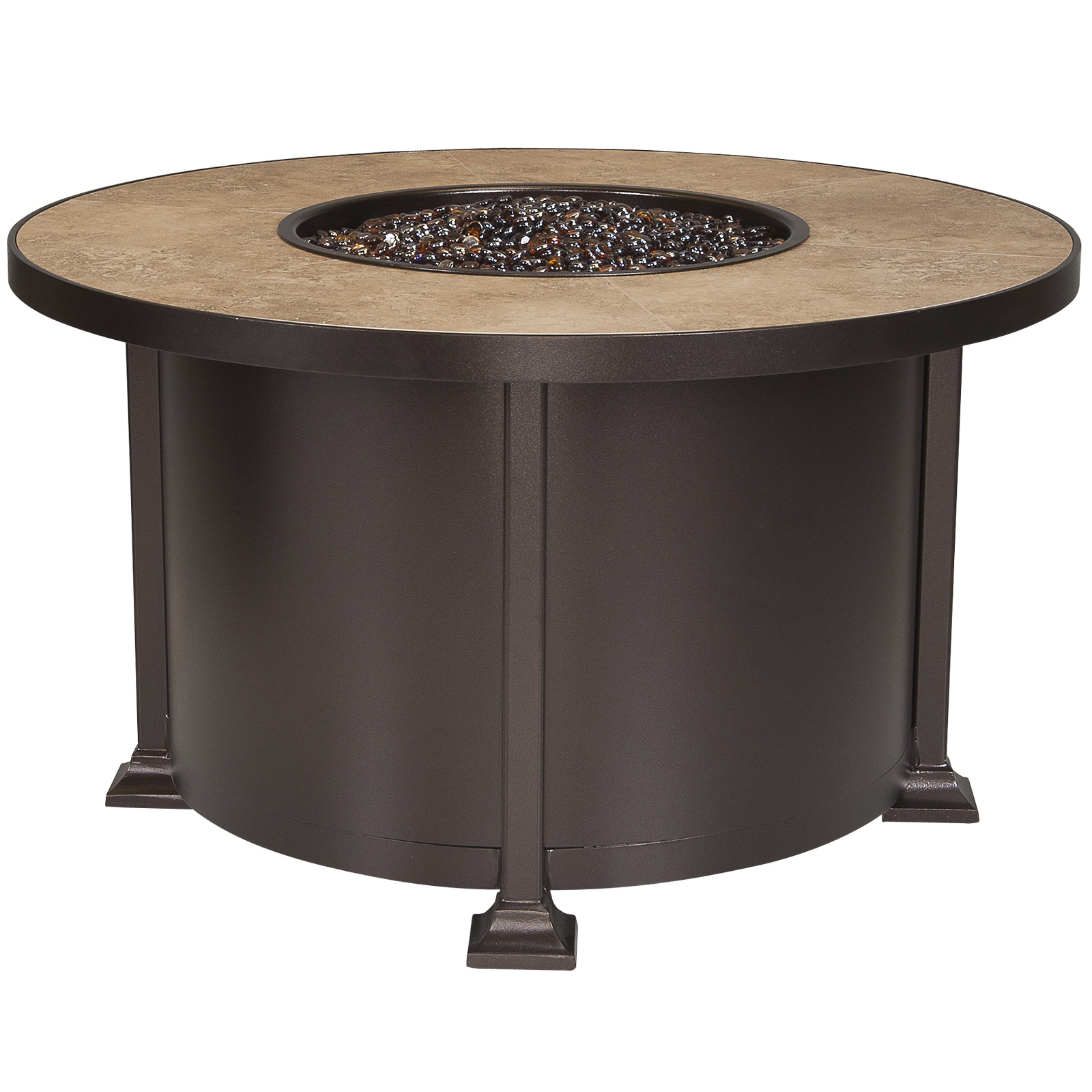 "OW Lee Vulsini 42"" Round Chat Height Fire Pit Table - 5120-42RDC"