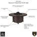 Santorini 54inch round Chat Fire Pit Features