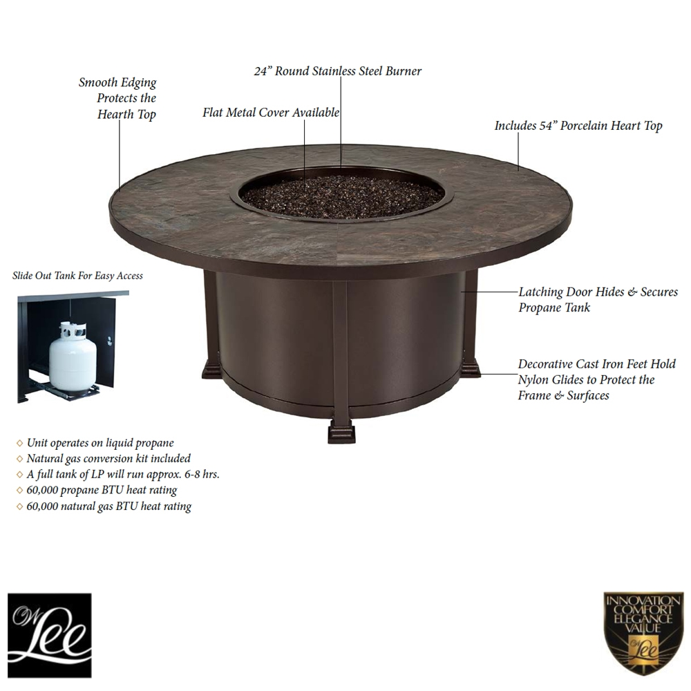 Ow Lee Santorini 54 Quot Round Chat Height Fire Pit 5110 54rdc