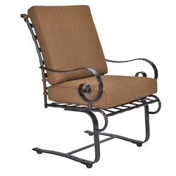 OW Lee Classico-W Club Spring Base Dining Arm Chair - 942-SBW