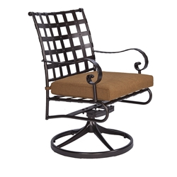 OW Lee Classico-W Swivel Rocker Dining Arm Chair - 953-SRW