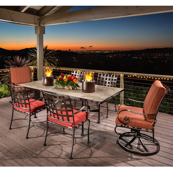 Ow Lee Classico Wrought Iron Patio Dining Set Ow
