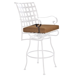 OW Lee Classico-W Swivel Bar Stool With Arms Cushion - OW53-S-SBSW