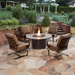 "Classico 54"" Round Chat Height Fire Pit Table - 51-10C"