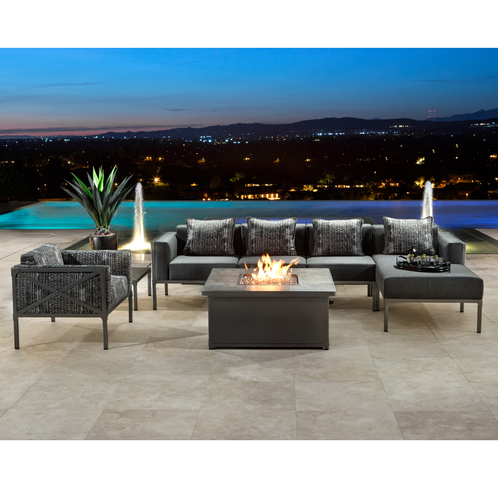 Enjoyable Ow Lee Creighton Modern Patio Sectional With Chaise Ow Download Free Architecture Designs Viewormadebymaigaardcom