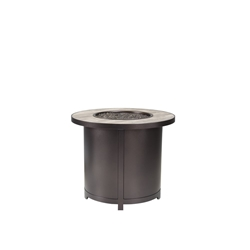 "OW Lee 30"" Round Chat Height Fire Table - 5122-30RDC"