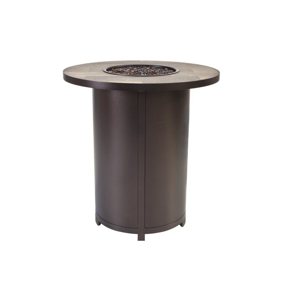 "OW Lee Elba 36"" Round Counter Height Fire Table - 5122-36RDK"