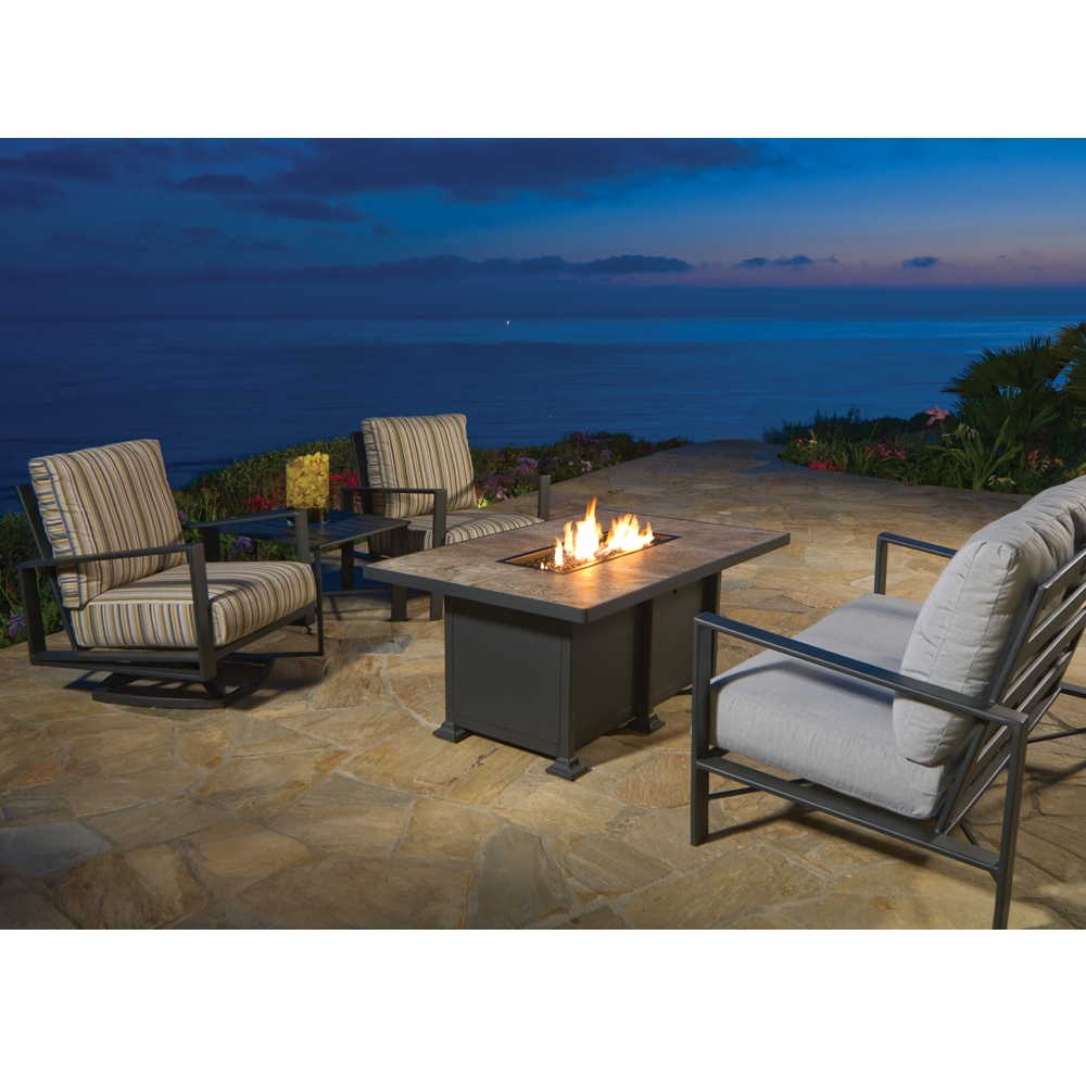 Ow Lee Vulsini 36 Quot X 58 Quot Rectangle Chat Height Fire Pit