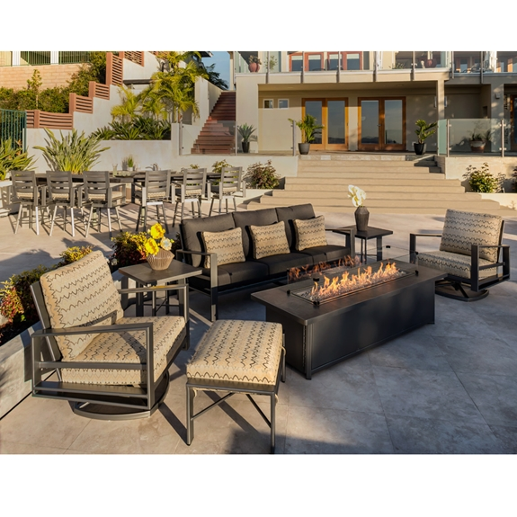 Ow Lee Gios Modern Fire Pit Patio Set