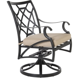 OW Lee Grand Cay Swivel Rocker Dining Arm Chair - 6853-SR