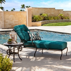 OW Lee Grand Cay Aluminum Adjustable Chaise Lounge and Side Table Set - OW-GRANDCAY-SET4