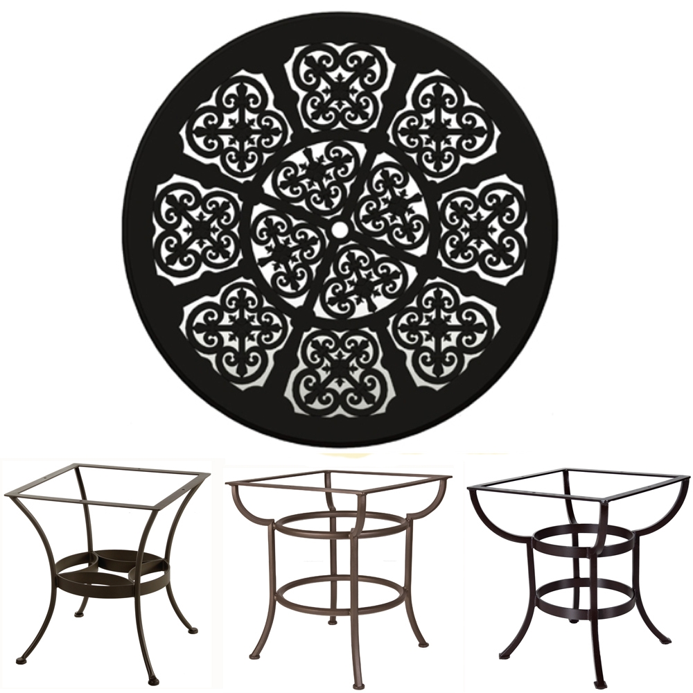 OW Lee 54 inch Round Hacienda Cast Top Dining Table - A54BU-DT03
