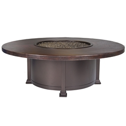 "OW Lee 54"" Round Occasional Hammered Copper Fire Pit Table - 5130-54RDO"